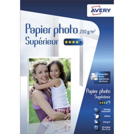 AVE B/50 PAP PHO BRIL 10X15 230G 2497-50