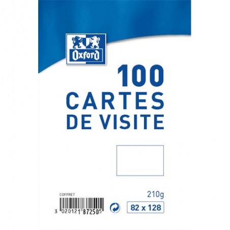 OXF B/100 CARTES VISITE 82X128 100101003