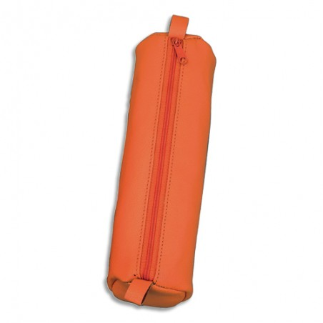 JSC TROUSSE 21X6CM CUIR ORANGE 43141