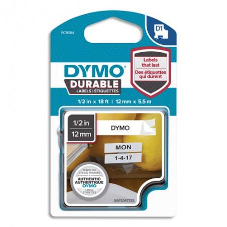 DYM RUBAN D1 DUR 12MMX5.5M N/BLC 1978364