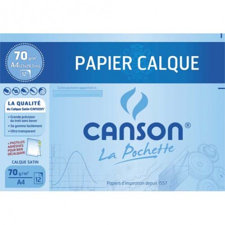 CAN P/12 FEUIL CALQ 70G A4 C200006565
