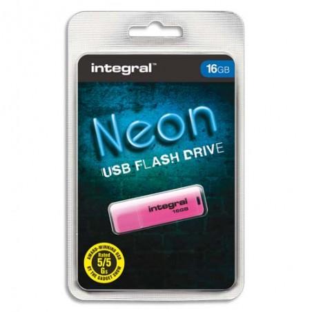 ITG CLE USB NEON 16GO R INFD16GBNEONPK
