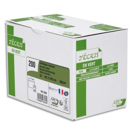 GPV B/200 ENV 80G 162X229 BLC RECY 3303