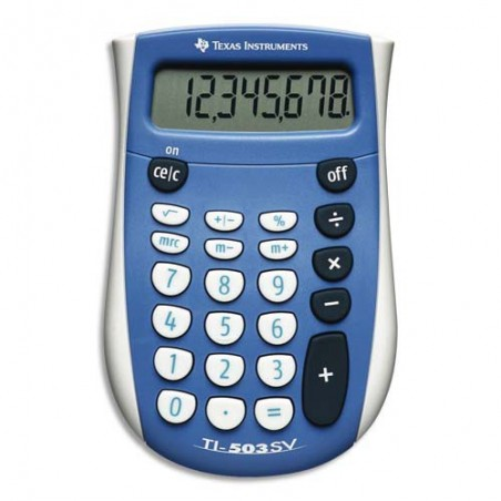 TEX CALCULATRICE 8CH POCKET 503SV