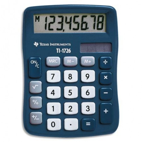 TEX MINI CALCULATRICE BUR 8CHIF TI1726