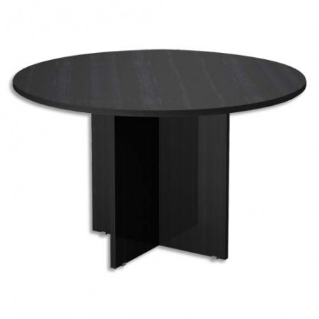 MTI TABLE RONDE D120CM N/FRE MT1120-NF