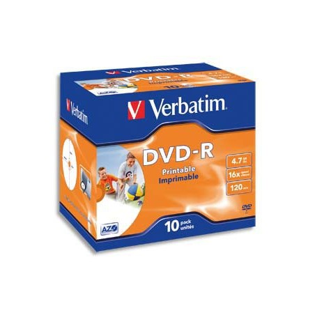VET T/10 DVD-R 16X 4.7GO 120MIN 43523+R