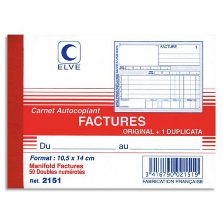 ELV CARN FACTURE ATCP 10X14CM 50/2 2151