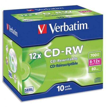 VET B/10 CD-RW 8/12X 700MO 80MIN 43148+R