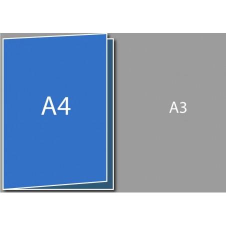 Dépliant A4 (A3 plié en deux)