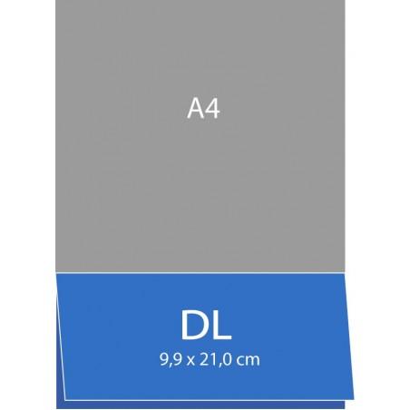 Cartes pliées (bord long) 9,9 x 21,0 cm