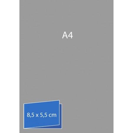 Cartes de visite pliées (bord court) 8,5 x 5,5 cm