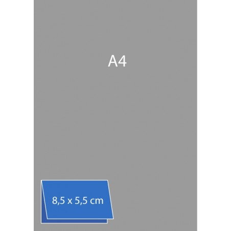 Cartes de visite pliées (bord long) 8,5 x 5,5 cm