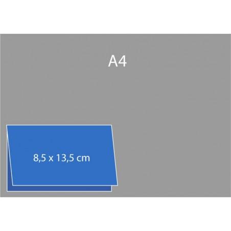 Cartes de visite pliées (bord long) 8,5 x 13,5 cm