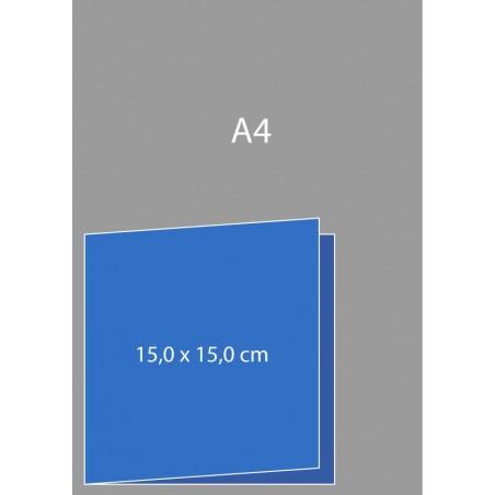 Cartes de visite pliées 15 x 15 cm