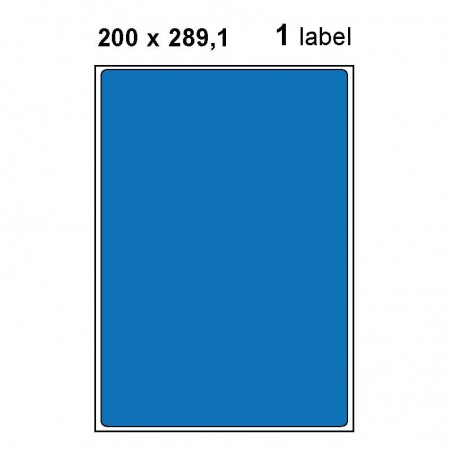 Etiquettes adhésives brillantes A4