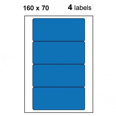 Etiquettes adhésives brillantes 160x70mm