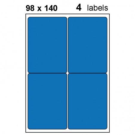 Etiquettes adhésives brillantes A6 (98x140mm)