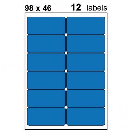 Etiquettes adhésives brillantes 98x46mm