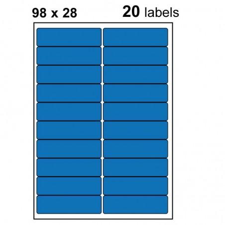 Etiquettes adhésives brillantes 98x28mm