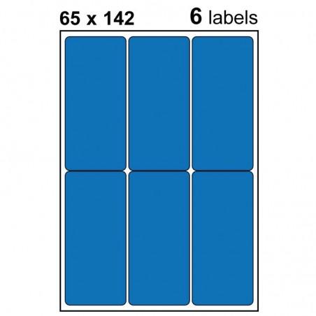 Etiquettes adhésives brillantes 65x142mm