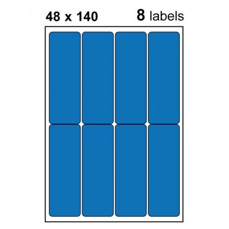 Etiquettes adhésives brillantes 48x140mm