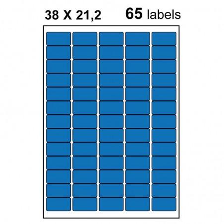 Etiquettes adhésives brillantes 38x21,2mm