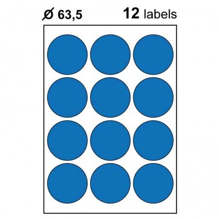 Etiquettes adhésives brillantes rondes 63,5mm
