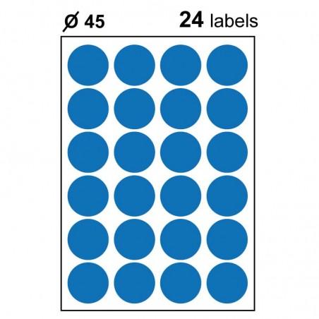 Etiquettes adhésives brillantes rondes 45mm