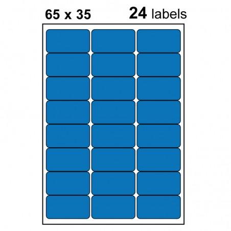 Etiquettes adhésives brillantes 65x35mm