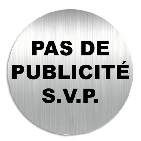 VIS PLAQUE SIGNAL PAS DE PUB SVP PALU1