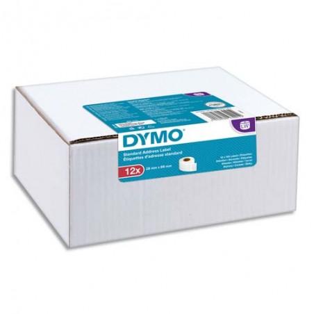 DYM P/12 ETIQ LW STD ADR 28X89MM 2093091