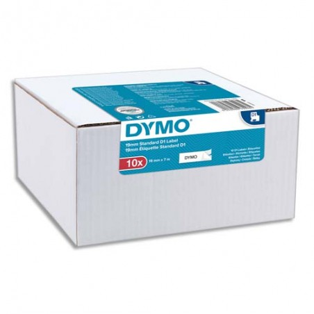 DYM P/10 RUBAN D1 NR/BLC 19MMX7M 2093098