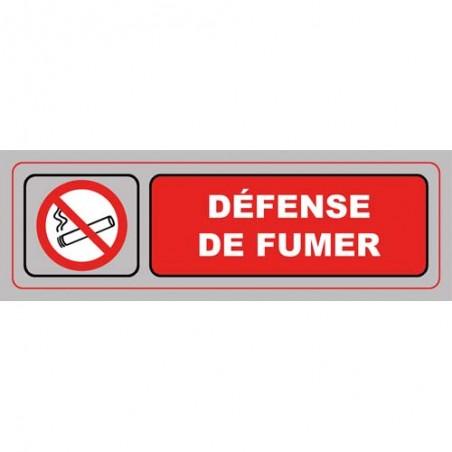 VIS PLAQUE SIGNALQ DEFENSE FUMER S35