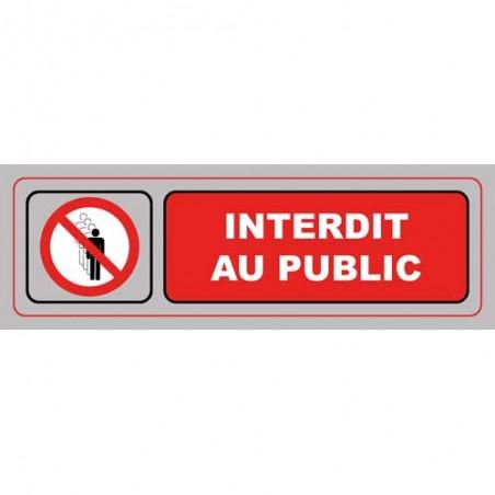 VIS PLAQUE SIGNALQ INTERDIT PUBLIC S37
