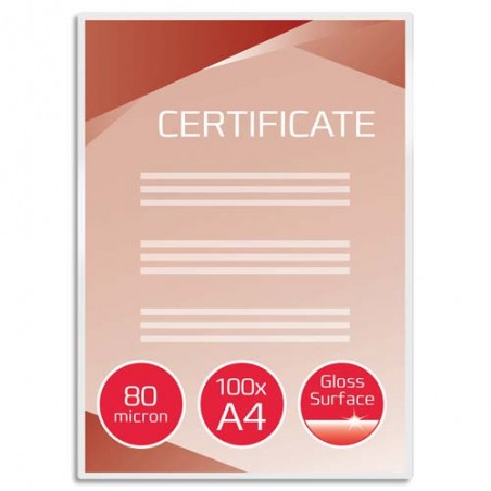 GBC P/100 POCH PLAST A4 80MIC IB585036