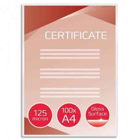 GBC P/100 POCH PLAST A4 125MIC 3200723
