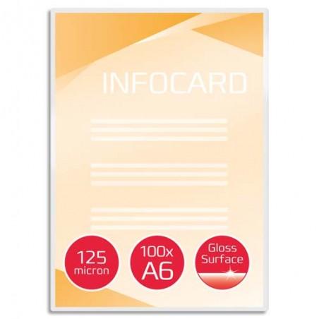GBC P/100 POCH PLAST A6 125MIC 3740442