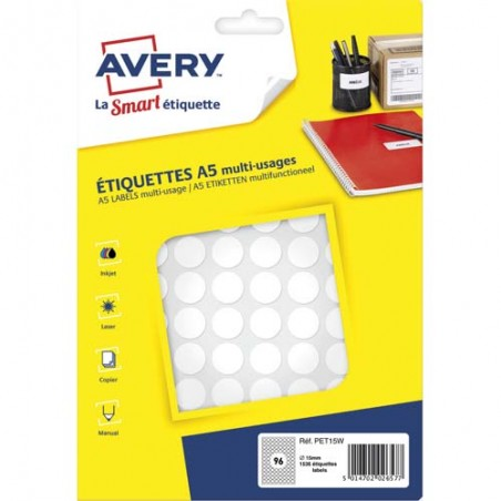 AVE S/1536 PASTILLES D15MM BLC PET15W