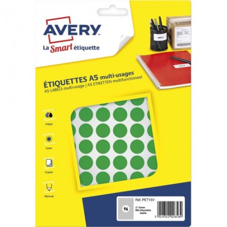 AVE S/960 PASTILLES D15MM VT PET15V