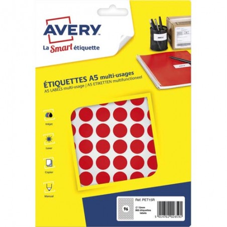 AVE S/960 PASTILLES D15MM RGE PET15R