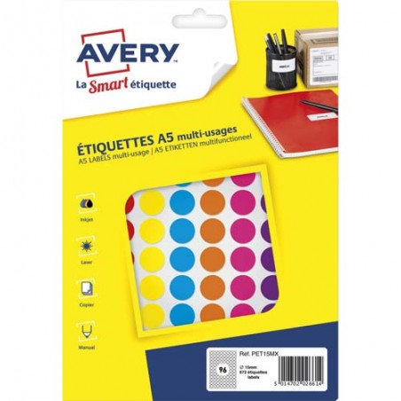AVE S/672 PASTILLES D15MM ASS PET15MX