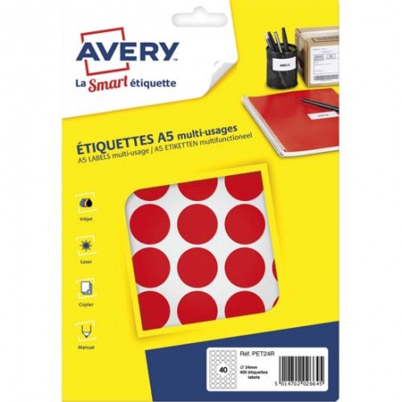 AVE S/400 PASTILLES D24MM RGE PET24R