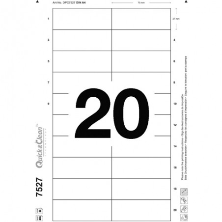 AVE B/200 INSERT BADGE 27X75 7527