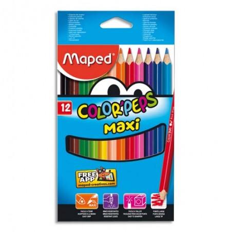 MAE B/12 MAXI COLOR PEPS ASS 834010