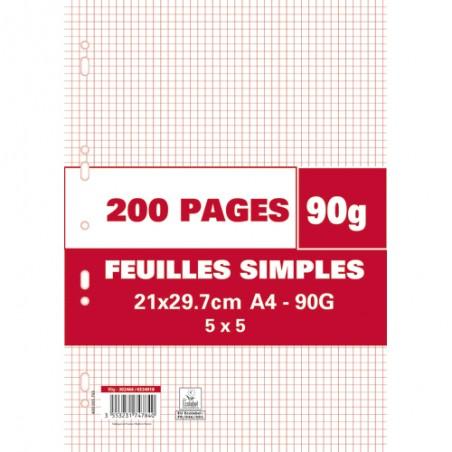 1ER SACHET/200P FEUILLET MOBILE 90G 5X5