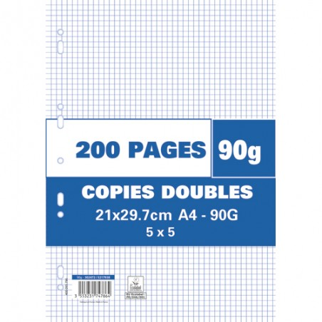 1ER SACHET/200P COPIE DOUBLE 90G 5X5