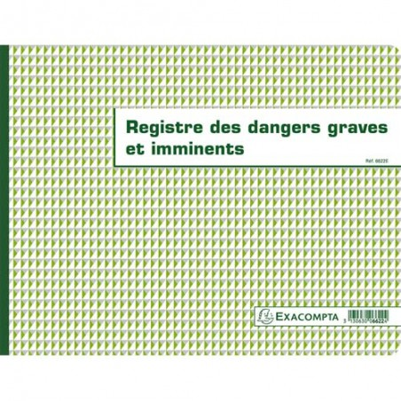 EXA REGISTRE DANGERS GRAVES 6622E