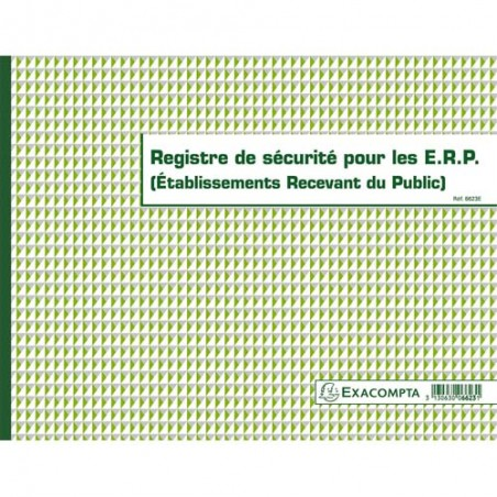EXA REGISTRE SECURITE POUR ERP 6623E