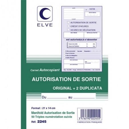 ELV CARN AUTO SORTIE ATCP 50/3 2245